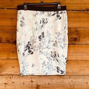 NWT! Amalfi soft floral pencil skirt